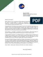 La lettre de Pierre-Paul Leonelli à Marine Le Pen