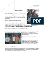 Pagtataya Ni Mang Eder, Lente Volunteer