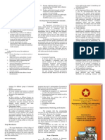 Brochure, PUP Department of Sociology Extension and Community Involvement Committee