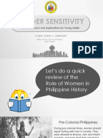 Gender Sensitivity for Young Adults