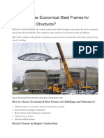 How to Choose Economical Steel Frames for Buildings and Structures