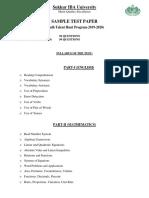 Sample Paper STHP 2019 Nov 04 2019