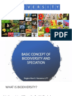 Basic Concept of Biodiversity and Speciation
