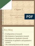 Quantitative versus qualitative research