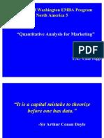 Marketing Quantitative Analysis Univ. Washington