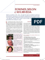Article Layurveda 5 Les Toxines