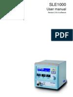 SLE 1000 User Manual