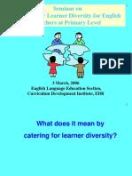 catering learner diversity pri level 3 mar 2006.ppt