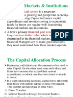 Introduction to Capital & Money Markets