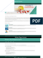 Python, Django and MySQL Project on Pharmacy Shop Management System Screens