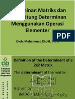 7. Determinan Matriks & Menghitungnya
