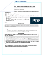 1. Appointment and Qualification of Directors