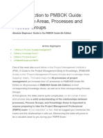 1. An Introduction to latest PMBOK® Guide Knowledge Areas, Processes & Process Groups