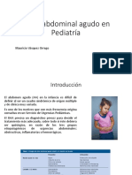 Dolor Abdominal Agudo en Pediatría