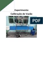 Experimento Calibração de Vazão