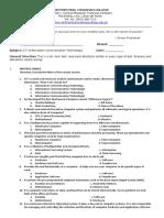 Test Questionnaire(Ict)