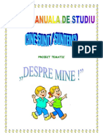 Proiect Tematic Despre Mine