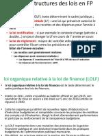 002 Type Et Structure Des Lois en FP LOLF Jusqu'Au 20 Mars