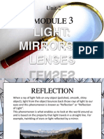Light Mirrors and Lenses