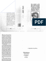 Arendt, Hannah. A Dignidade Da Política