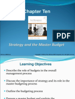 Chap010-Strategy and the Master Budget
