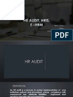 HR AUDIT , E HRM, HRIS