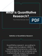 Chapter 1 What is Quantitative Research