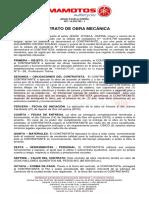 Contrato de Obra Mecanica