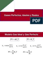 Gases Perfectos Ideales y Reales