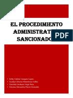 El Procedimiento Administritivo Sancionador