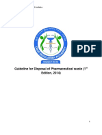 Guideline for Disposal of Pharmaceutical Waste