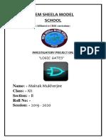 Physics Project - Report on Logic Gates
