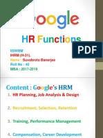 HR Functions of Google