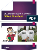 The Role of a Coach