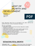 Assessment of Fetal Growth and Development