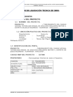 Informe de Liquidacion Tecnica de Obra Okok