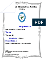 261789340 TAREA II Matematica Financiera