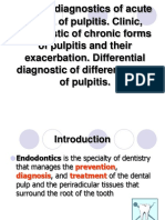 Acute pulpitis diagnosis