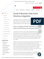Oracle E-Business Suite Active Directory Integration - Password Synchronization
