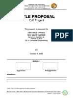 Title Proposal Format Irrigation1