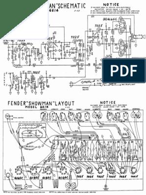 Fender Showman 6G14 Schematic on