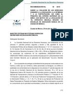 Recomendacion 48-2019 CNDH Operativo Mochila