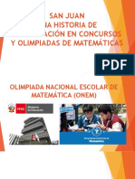 Historia de Concursos y Olimpiadas II