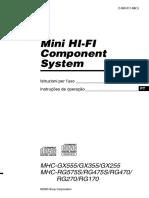 Manual Do Usuario Sony MHC-RG270