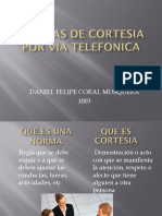 Normas de Cortesia Por via Telefonica