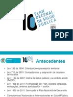 Plan Decenal de Salud 2012-2021