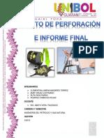 Costos de Perforación e Informe Final