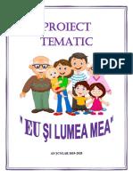 Proiect Tematic ~ EU SI LUMEA MEA~