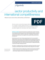 Service Sector Productivity and International Competitiveness