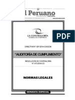 Aprueban La Directiva n 007 2014 Cggcsii Auditoria de Cu Res n 473 2014 Cg 1154031 1